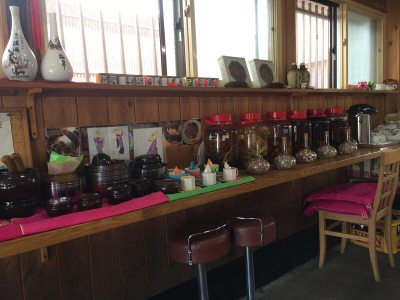 韓国家庭料理 漢江 ハンガン 秋田県湯沢市材木町 サイドカウンター