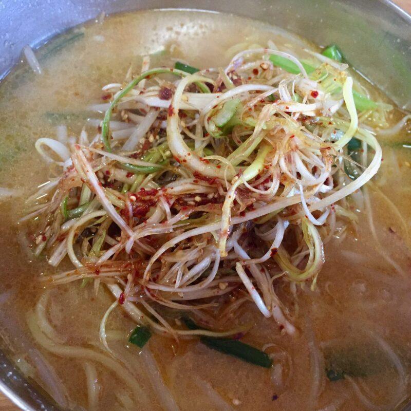 韓国家庭料理 漢江 ハンガン 秋田県湯沢市材木町 味噌ラーメン 具