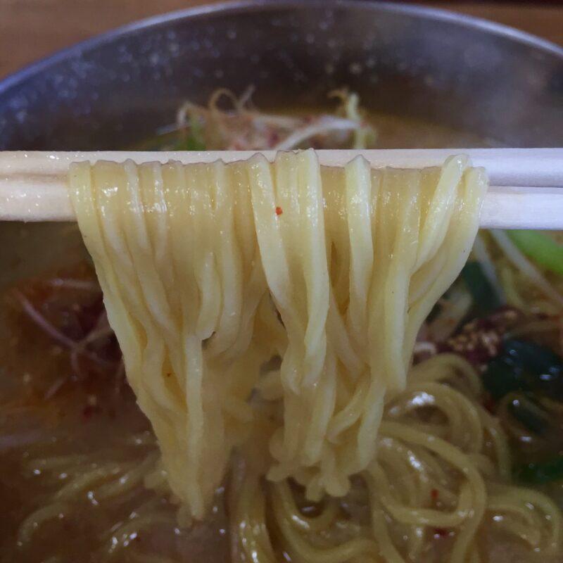 韓国家庭料理 漢江 ハンガン 秋田県湯沢市材木町 味噌ラーメン 麺