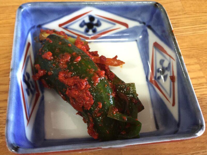 韓国家庭料理 漢江 ハンガン 秋田県湯沢市材木町 キュウリ キムチ