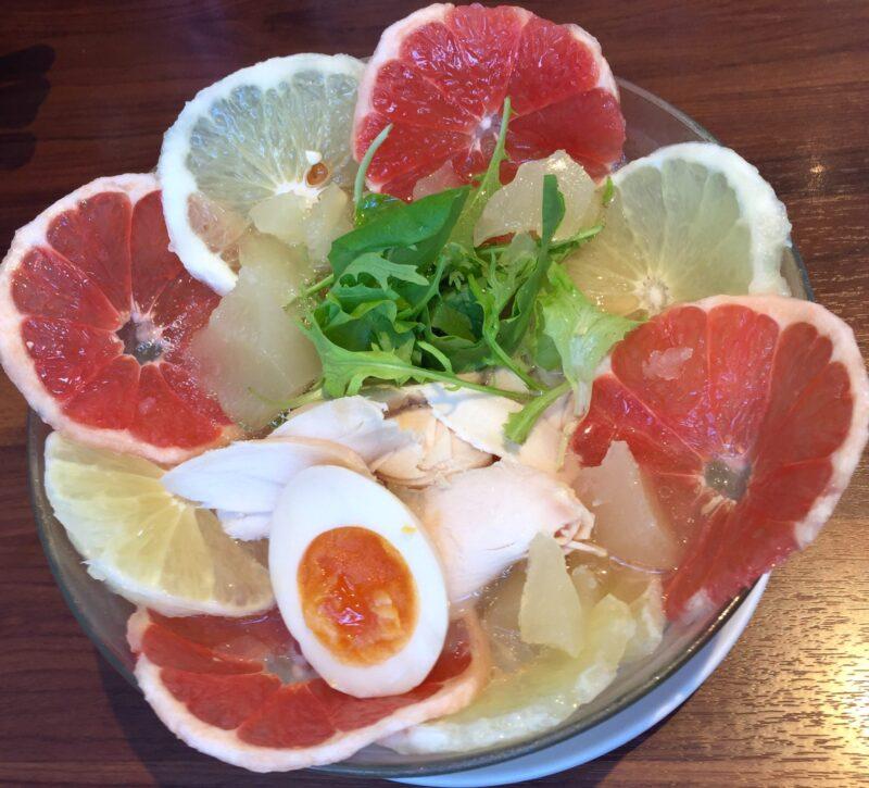 麺や ようか 新潟県小千谷市若葉 限定 冷やしグレープフルーツサワー麺