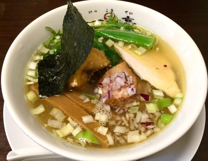 らぁ麺や 一晃亭 いっこうてい 新潟県長岡市大島 鶏と鯛の塩そば
