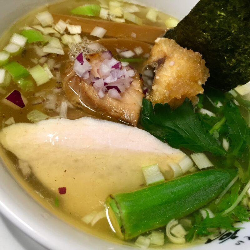 らぁ麺や 一晃亭 いっこうてい 新潟県長岡市大島 鶏と鯛の塩そば 具