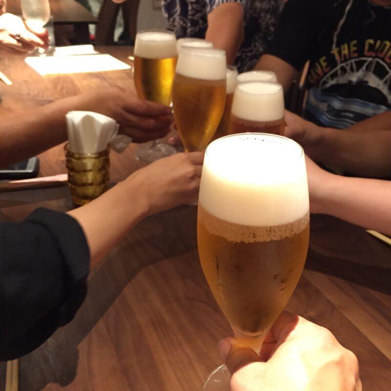 あおぎり AOGUIRI 新潟県長岡市東坂之上町 生ビール 乾杯