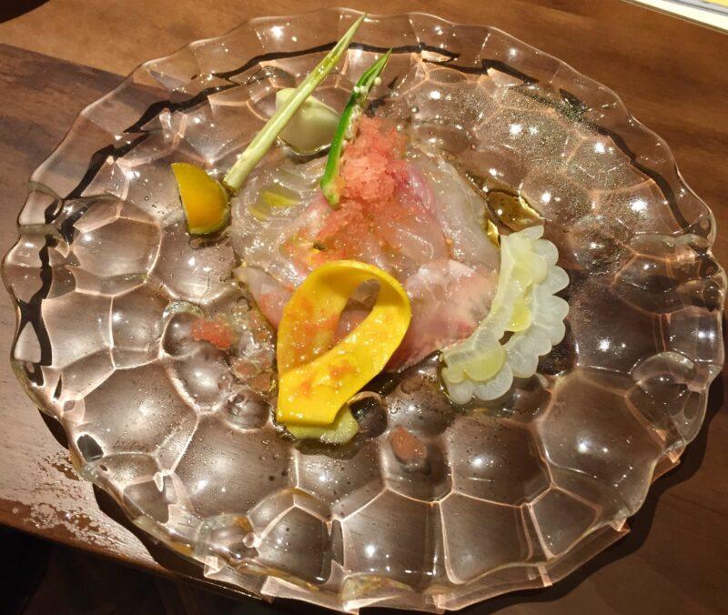 あおぎり AOGUIRI 新潟県長岡市東坂之上町 寺泊産 メバルと夏野菜カルパッチョ仕立て