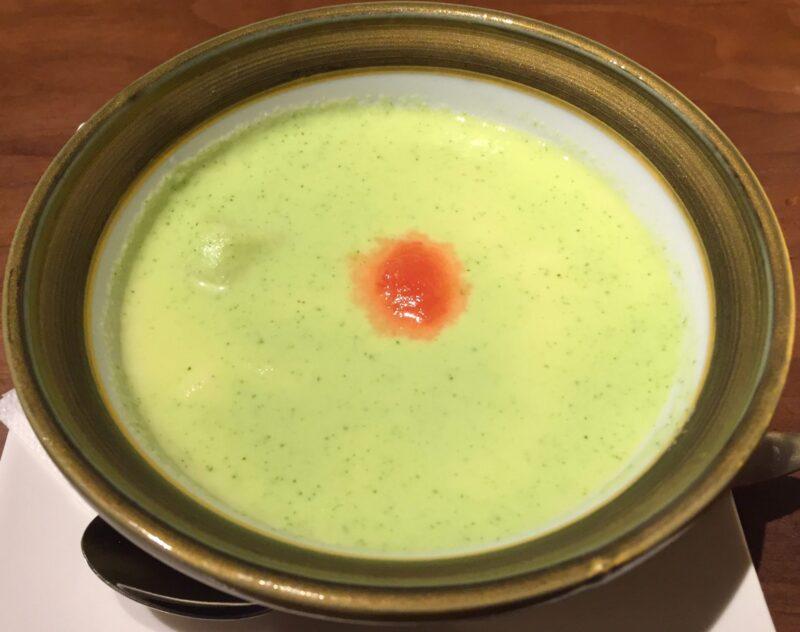 あおぎり AOGUIRI 新潟県長岡市東坂之上町 海鮮と鶏の贅沢卵 ロワイヤル風 夏きゅうりソース 冷製茶わん蒸し