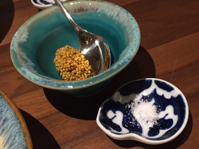 あおぎり AOGUIRI 新潟県長岡市東坂之上町 本日のグリル 伊達鶏もも肉 マイタケ シイタケ 塩 自家製のマスタード添え