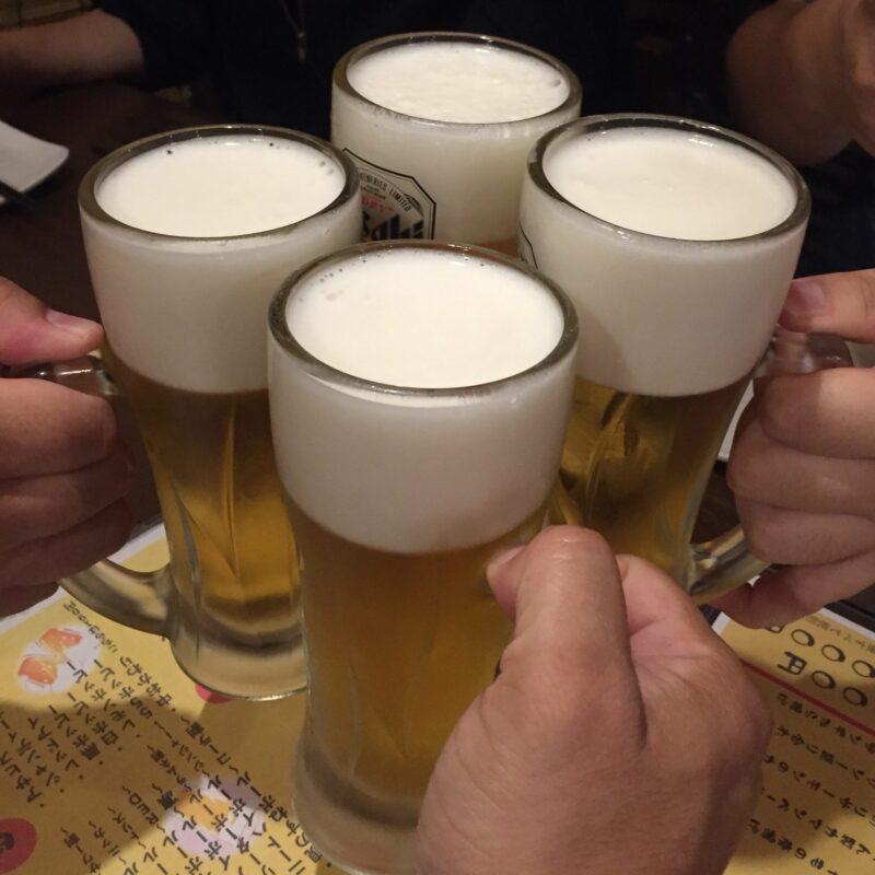 串揚げ おれこな酒場 宮城県仙台市宮城野区原町 生ビール 乾杯