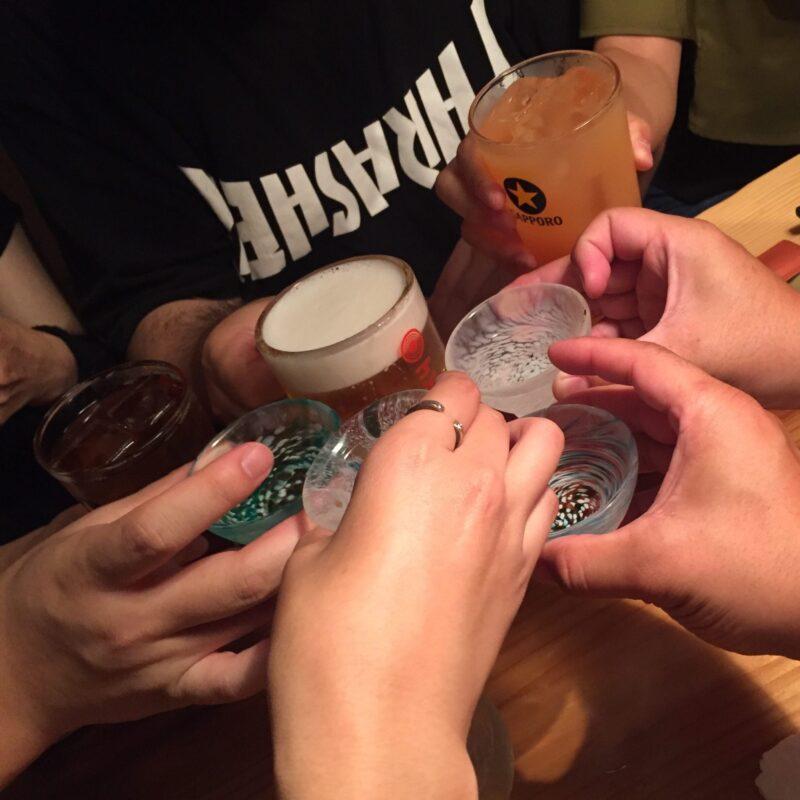 炭焼笑店 ゴジュウマル 宮城県仙台市青葉区一番町 日本酒 乾杯