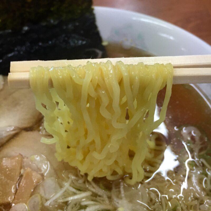 お食事処 ドライブイン汐風 しおかぜ 青森県西津軽郡鰺ヶ沢町 醤油味ラーメン 麺