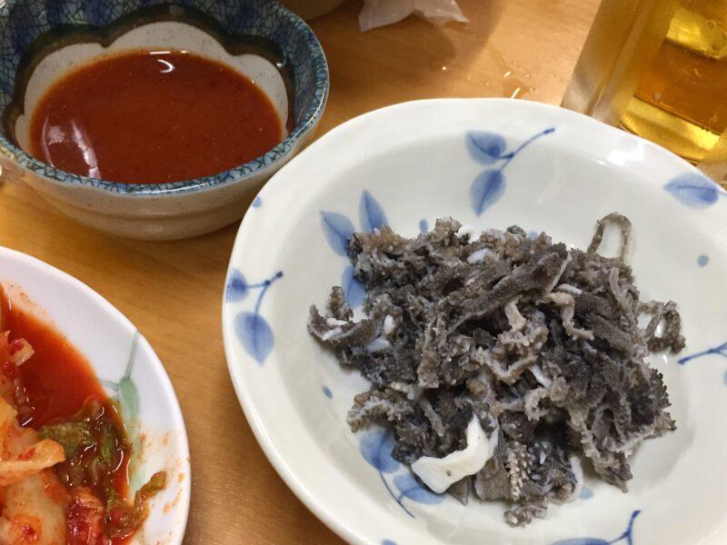 ホルモン幸楽 花輪本店 秋田県鹿角市花輪 センマイ刺