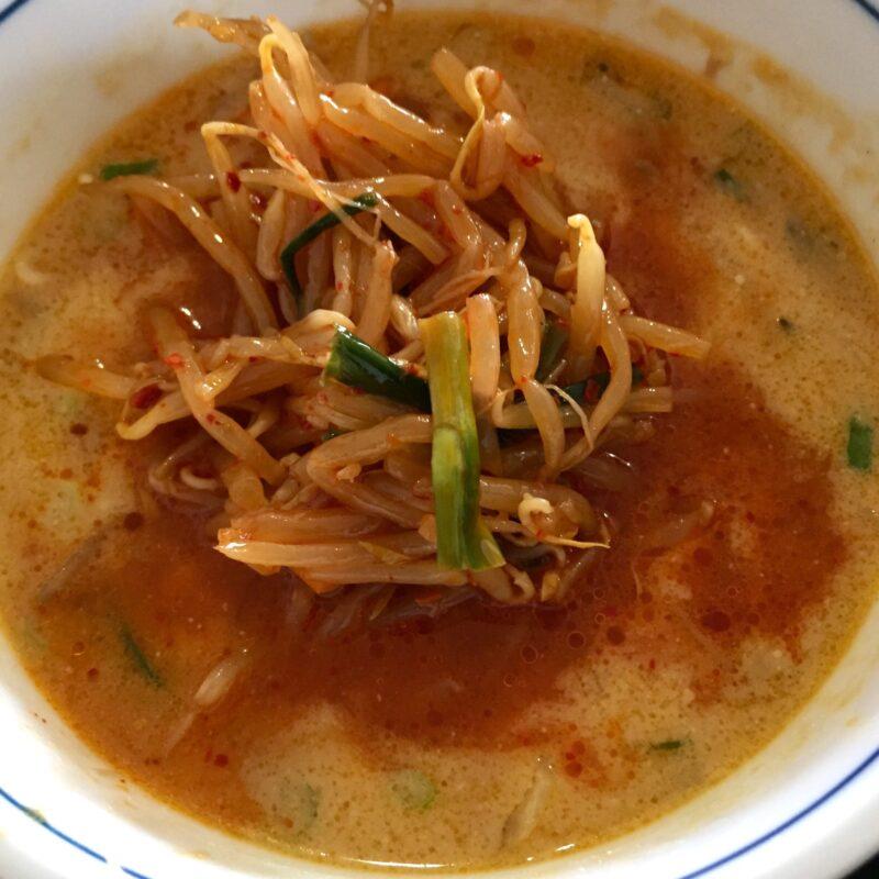 味処 きく味 居酒屋 喜久味 秋田県潟上市昭和乱橋 味噌つけめん つけ汁 スープ ピリ辛ナムル