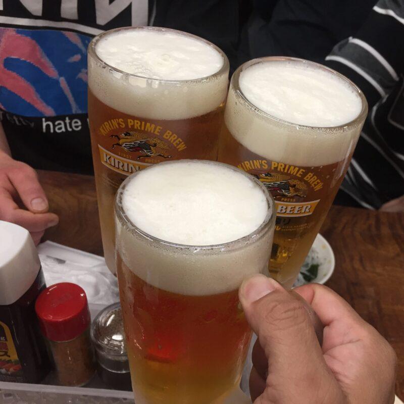 永楽食堂 お食事処永楽 秋田県秋田市中通 生ビール 乾杯