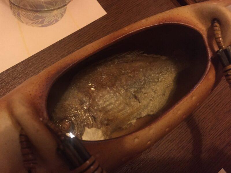 骨酒と地酒 山海のごちそう 酒讃家 しゅさんか 秋田県秋田市山王 石鯛の骨酒