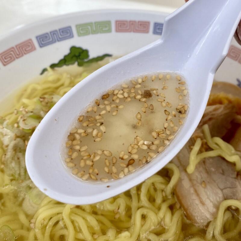 ピノキオ 秋田県秋田市御所野 スーパーセンター・アマノ御所野店内 フードコート 塩ラーメン スープ