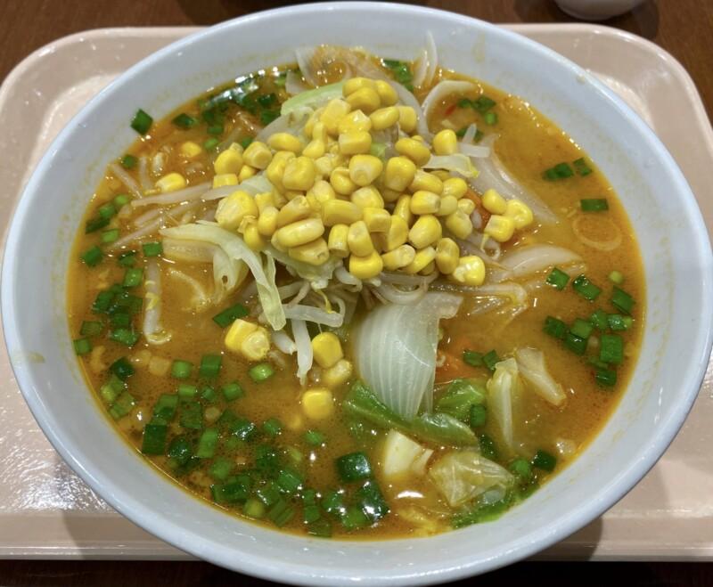 軽食ひまわり 秋田県横手市横手町 スーパーマーケットよねや ハッピーモール店内 からしみそラーメン 辛味噌ラーメン