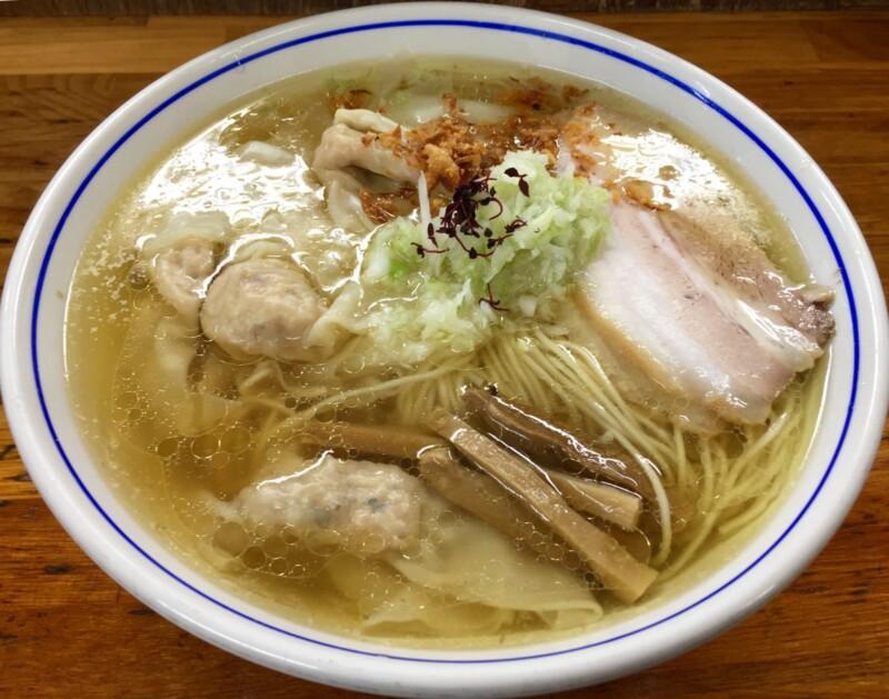 自家製麺 支那そば 福々亭 静岡県伊東市湯川 塩わんたんめん 豚バラ 塩らーめん