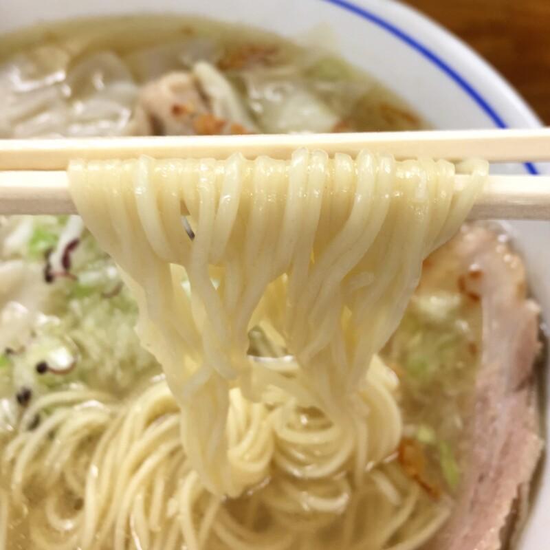 自家製麺 支那そば 福々亭 静岡県伊東市湯川 塩わんたんめん 豚バラ 塩らーめんの麺