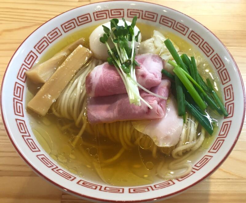 自家製麺 くろ松 群馬県高崎市柳川町 松・特級中華そば 白醤油
