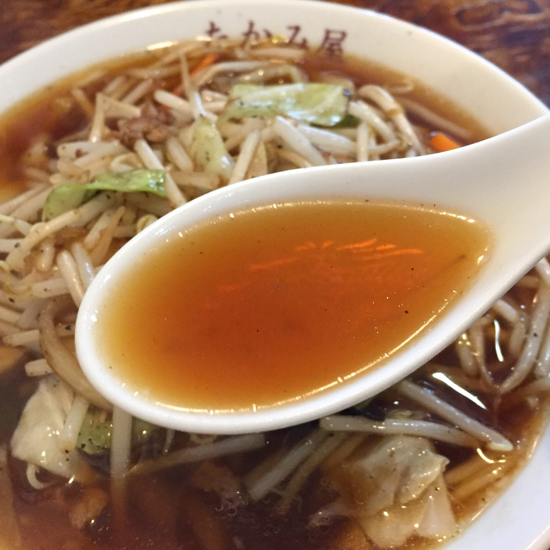 たかみ屋 岩手県盛岡市肴町 やさいラーメン 野菜ラーメン スープ