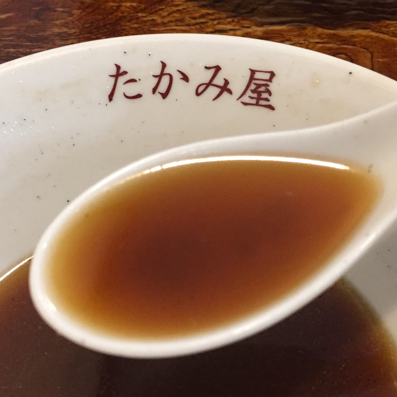 たかみ屋 岩手県盛岡市肴町 うまにラーメン 餡掛けラーメン スープ