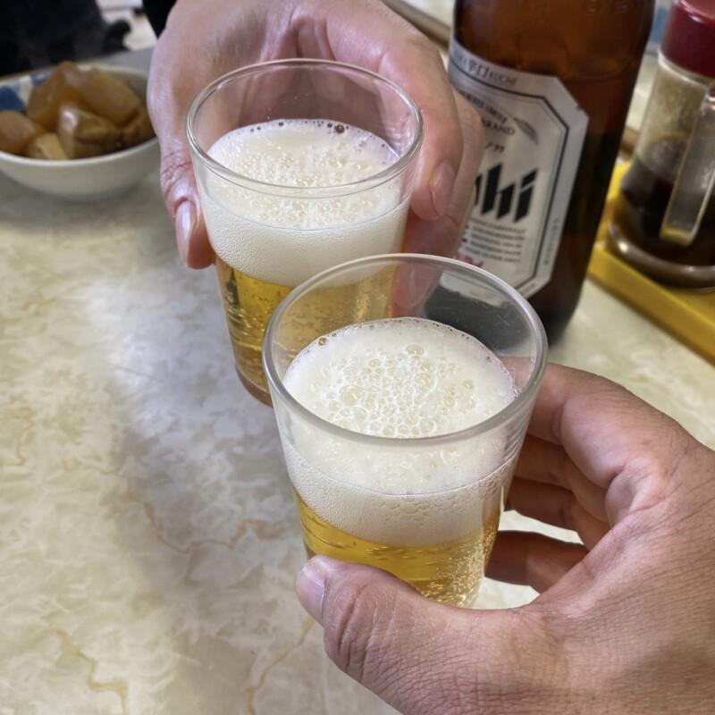 五郎兵衛食堂 ごろうべえしょくどう 山形県酒田市中町 ビール 乾杯