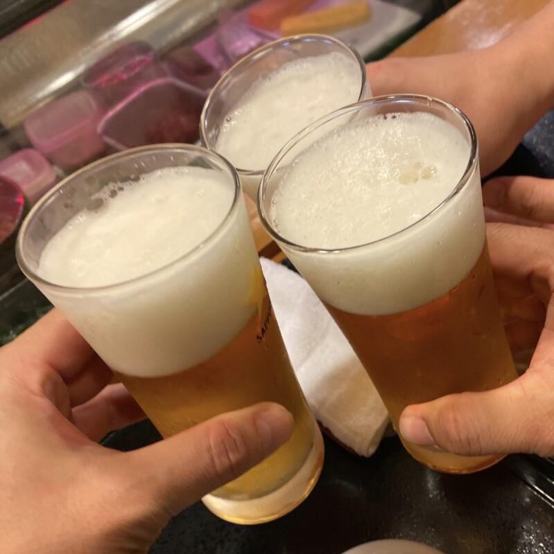 寿し 割烹 こい勢 こいせ 山形県酒田市酒田市相生町 生ビール 乾杯