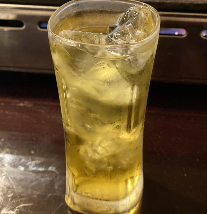 生ホルモンと生ビールの店 多勝 秋田県秋田市新屋朝日町 緑茶ハイ
