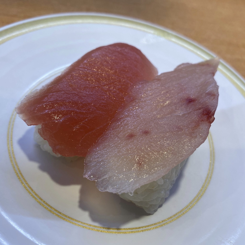 かっぱ寿司 横手店 秋田県横手市前郷 まぐろ二種森本 びんちょう 鮪