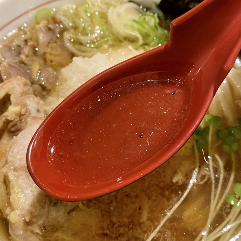 麺屋いばらき 山形県天童市北目 おろし中華 温 スープ