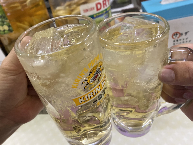 ラーメン居酒屋 ゆっちゃん 石川県七尾市和倉町 和倉温泉 ハイボール 乾杯