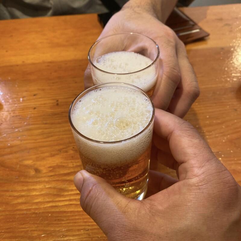 自然派ラーメン 神楽 かぐら 石川県金沢市寺町 瓶ビール 乾杯