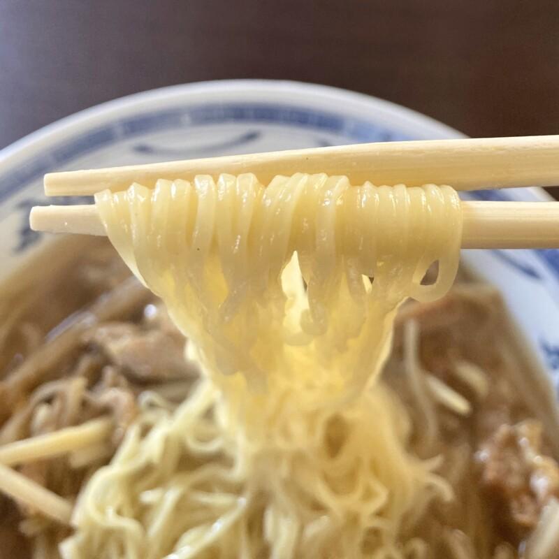 中華レストラン 香港公司 香港ハウス 秋田県由利本荘市西梵天 ザーサイと豚肉のラーメン 麺