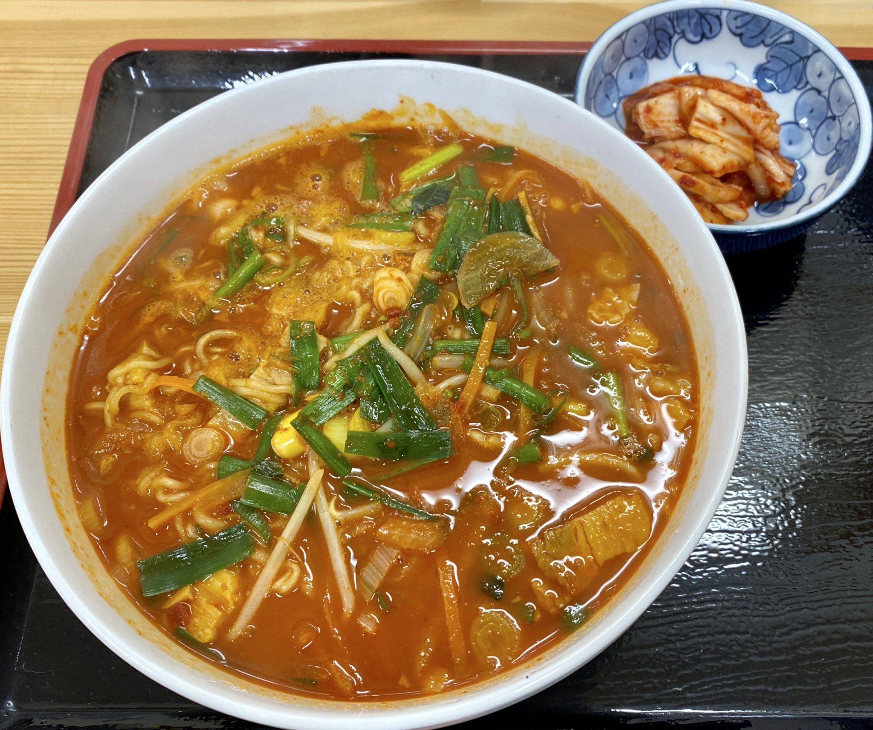 韓国家庭料理 ソナム 秋田県にかほ市象潟町 にかほ市観光拠点センター にかほっと内 超・超・超辛いラーメン
