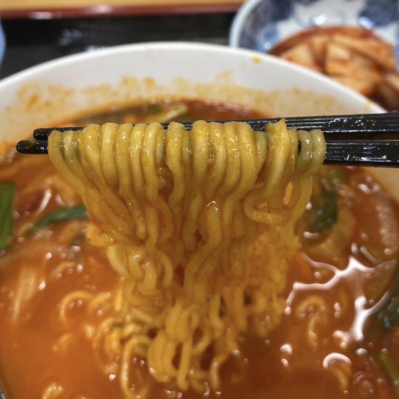 韓国家庭料理 ソナム 秋田県にかほ市象潟町 にかほ市観光拠点センター にかほっと内 超・超・超辛いラーメン 麺