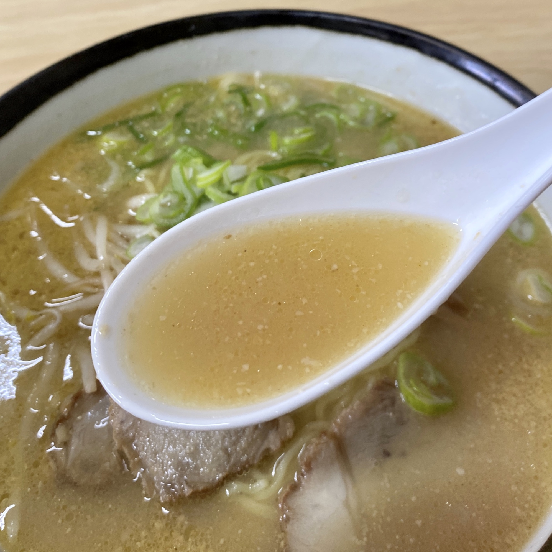 お食事処 えのき 秋田県秋田市寺内 味噌ラーメン スープ