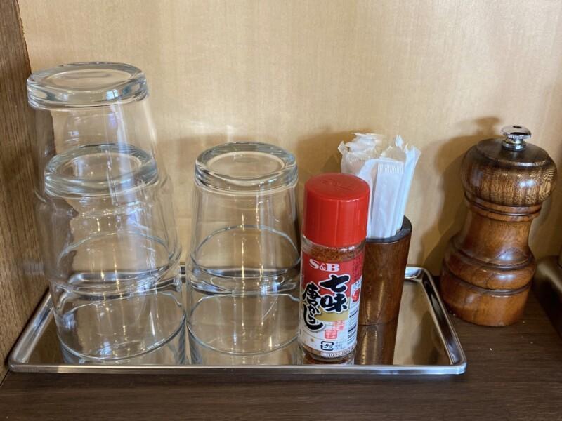 NOODLE SHOP KOUMITEI 香味亭 秋田県横手市婦気大堤 オマール海老香る味噌まぜそば 味変 調味料