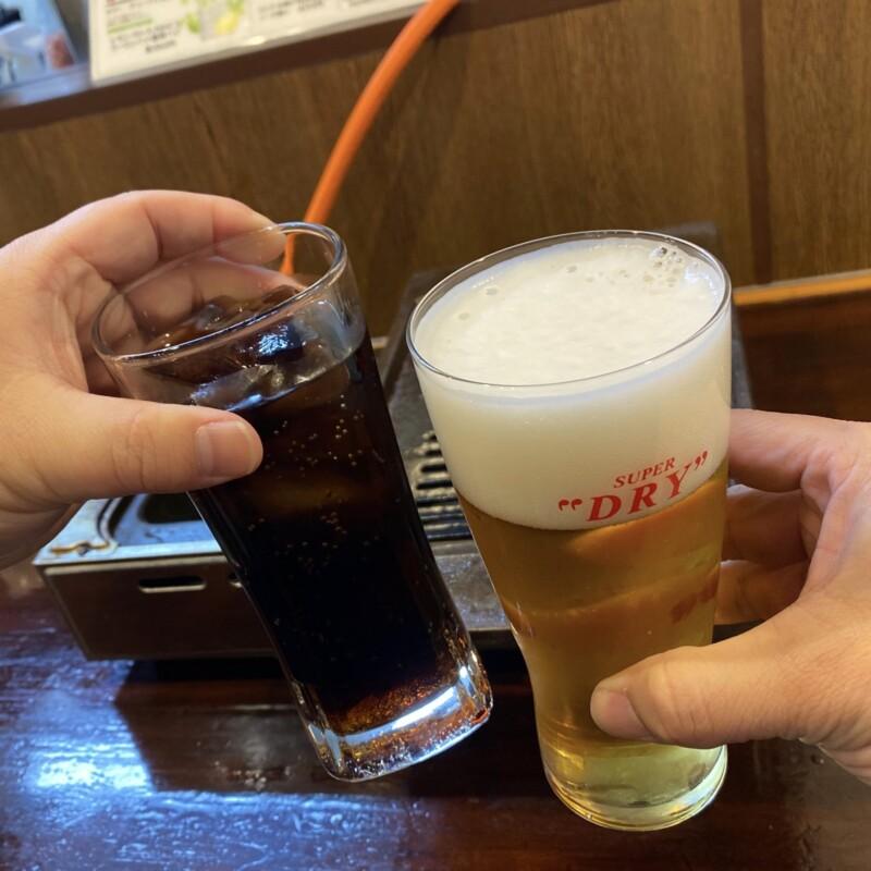 生ホルモンと生ビールの店 多勝 たかつ 秋田県秋田市新屋朝日町 生ビール 乾杯