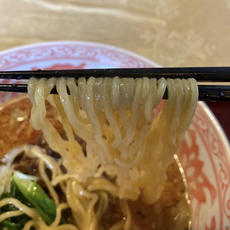 中華料理店 リトルチャイナ 秋田県能代市通町 担々麺 麺