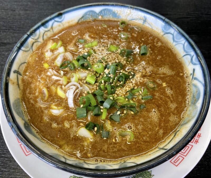 らーめん萬亀 ばんき 秋田県秋田市山王新町 坦々つけめん ブレンド醤油 つけ汁 スープ