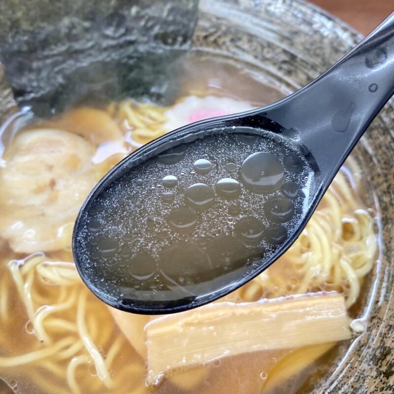 お食事処 山内食堂 秋田県横手市山内大沢 醤油ラーメン スープ