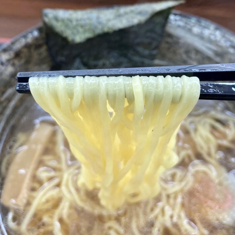 お食事処 山内食堂 秋田県横手市山内大沢 醤油ラーメン 麺