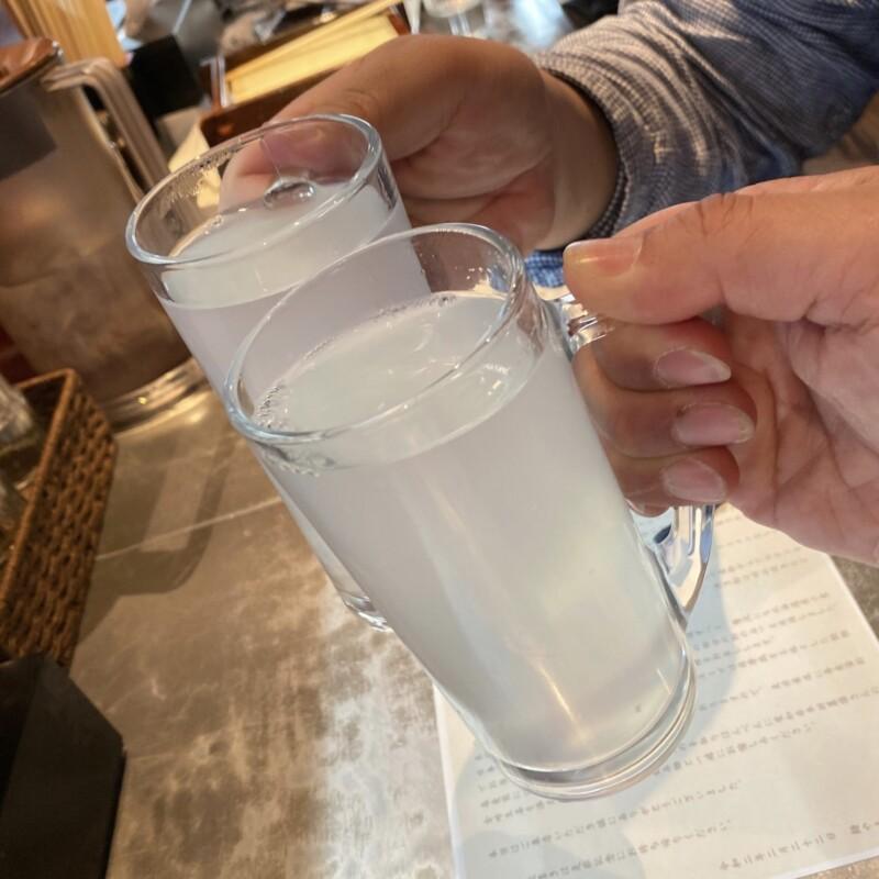 麺やまらぁ 東京都中央区日本橋人形町 創業10周年特別メニュー 芋焼酎蕎麦湯割り