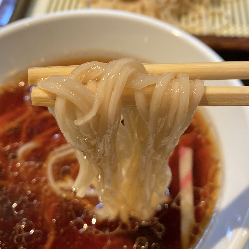 麺やまらぁ 東京都中央区日本橋人形町 創業10周年特別メニュー 更科 自家製麺 梅切り麺