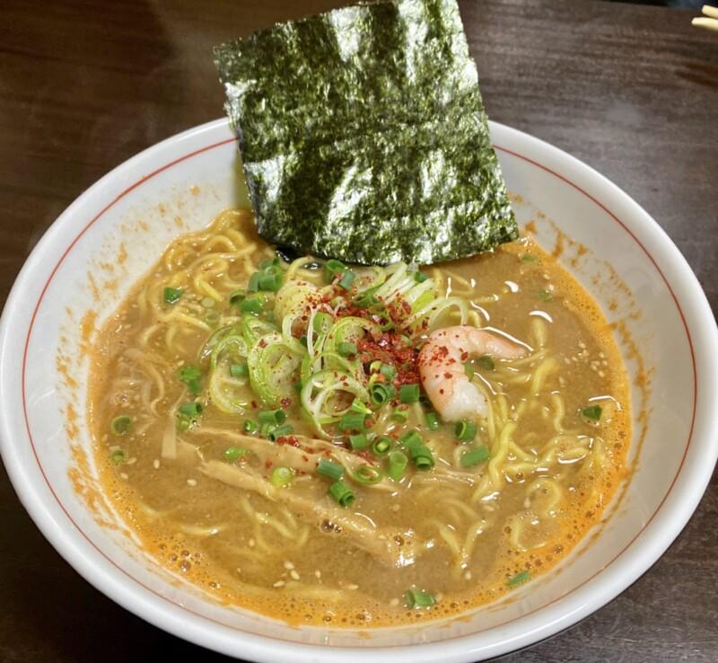 ビストロ桜舞 おうぶ 秋田県湯沢市柳町 海老味噌ラーメン
