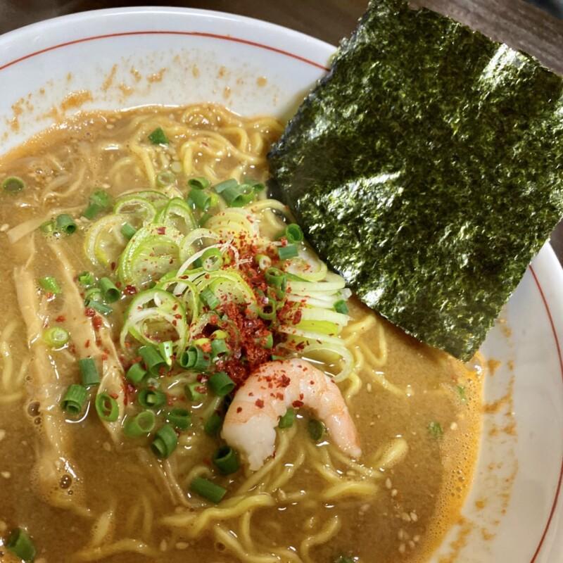 ビストロ桜舞 おうぶ 秋田県湯沢市柳町 海老味噌ラーメン 具