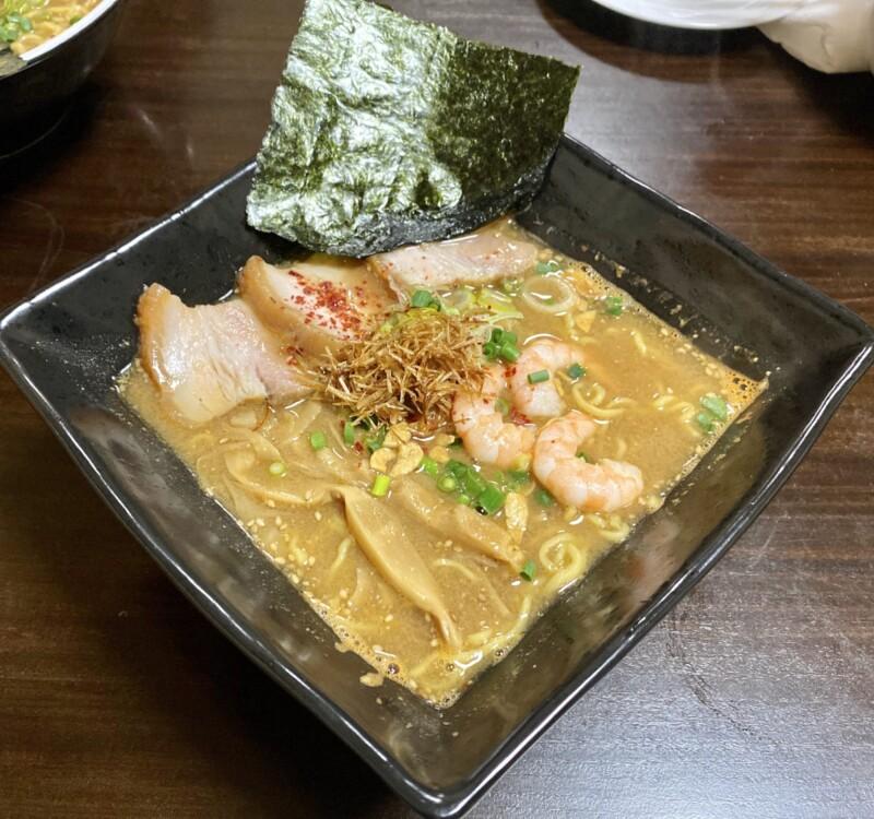 ビストロ桜舞 おうぶ 秋田県湯沢市柳町 海老味噌ラーメンDX