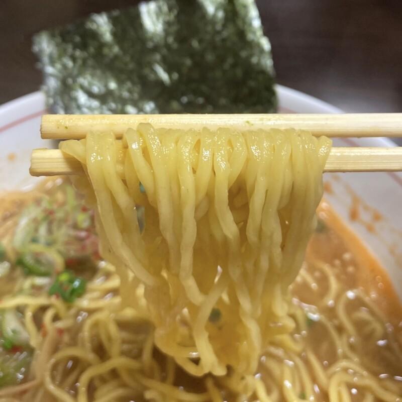 ビストロ桜舞 おうぶ 秋田県湯沢市柳町 海老味噌ラーメン 麺