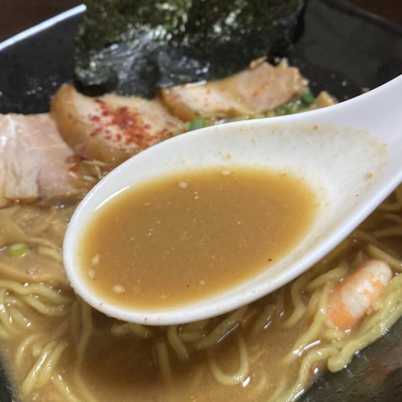 ビストロ桜舞 おうぶ 秋田県湯沢市柳町 海老味噌ラーメンDX スープ