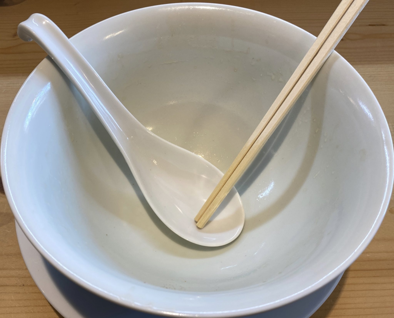 Ramen RyuGuJo ラーメン 龍宮城 りゅうぐうじょう 秋田県秋田市手形 鶏そば 完食